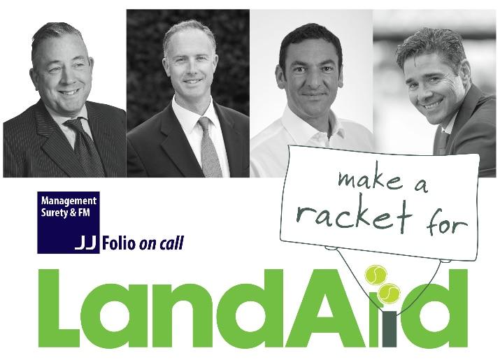 land aid tennis banner image