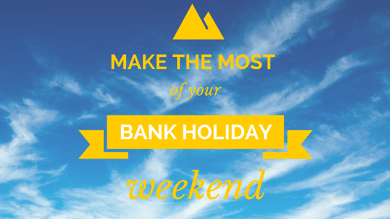 banner writing about bank holiday in sky image